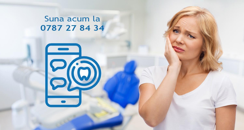 pacient cu o urgenta dentara